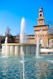 Sforza Castle (Castello Sforzesco), Milan Stock Image