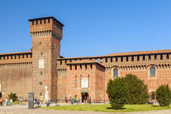 Sforza castle in the city of milan. Amazing sforza castle in the city of milan stock photos