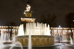 Sforza Castle  fountain Milan Royalty Free Stock Image