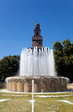 Sforza castle in Milan Royalty Free Stock Images