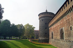 Sforza Castle aka Castello sforzesco in Milan stock image