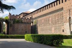 Sforza Castle. Milan, Italy. Stock Image