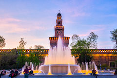 The Sforza Castle in Milan, Italy Royalty Free Stock Photo
