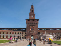 Sforza Castle in Milan Stock Images