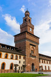 Sforza Castle in Milan Italy. Architecture background stock image