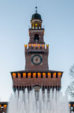 Sforza Castle in Milan, Italy Stock Photos