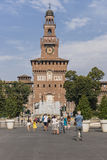 Sforza Castle in Milan, Italy Stock Photo