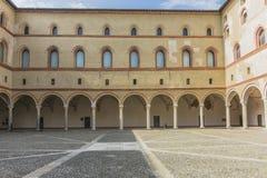 Sforza Castle in Milan, Italy. Castello Sforzesco Sforza Castle in Milano , Italy . Europe. Palace inside defensive walls stock photos