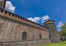 Sforza Castle in Milan, Italy Stock Photography