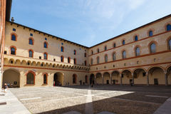 In the Sforza Castle Royalty Free Stock Image