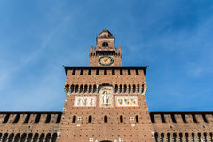Sforza Castle Milan Italy Monument Medieval Architecture Histori Royalty Free Stock Photography
