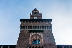 Sforza Castle Milan Italy Monument Medieval Architecture Histori Stock Photography