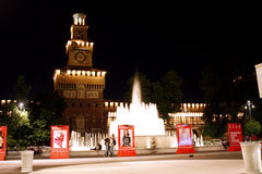 Sforza castle Milan Italy Stock Images