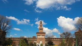 Sforza Castle in Milan Italy. Castello, Sforzesco royalty, front stock photos