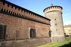 Sforza Castle in Milan, Italy Royalty Free Stock Photography