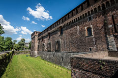 Sforza castle Milan - moat Royalty Free Stock Image