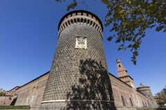 Sforza Castle. In Milan, Italy royalty free stock images