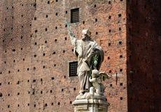 Sforza Castle statue Stock Photo