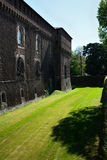 Sforza castle  sud-west moat Stock Image