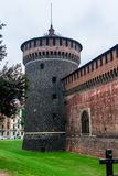 Sforza Castle Tower Royalty Free Stock Photography