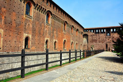 Sforza Castle walls Royalty Free Stock Photo