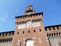Sforza ingång, Milan, Italien Royaltyfri Foto