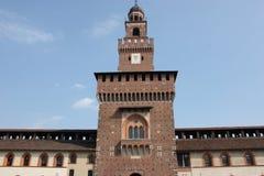 Sforza kasztel Zdjęcia Royalty Free