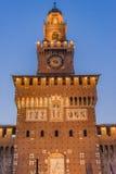 Sforza kasztel Obrazy Royalty Free