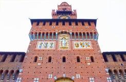 Sforza ` s城堡在米兰 免版税库存照片