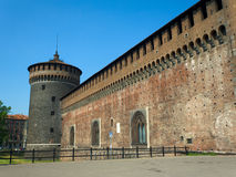 Sforza's Castle Royalty Free Stock Photography