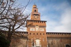 Sforza's Castle (Catello Sforzesco) in Milan, Italy. Royalty Free Stock Images