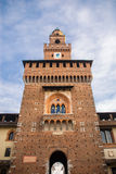 Sforza's Castle (Catello Sforzesco) in Milan, Italy. Royalty Free Stock Images