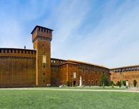 Sforza`s castle. In milan royalty free stock image