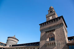 Sforza's castle in Milan Stock Photography