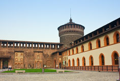 Sforza 's castle in Milan Royalty Free Stock Image
