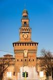 Sforza's Castle, Milan, Italy. View of Sforza's Castle, Milan, Italy stock photos
