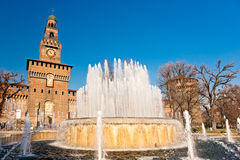 Sforza's Castle in Milan, Italy. Royalty Free Stock Photo