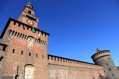Sforza's Castle in Milan, Italy. Castello Sforzesco (Sforza Castle) in Milan, Italy royalty free stock photos