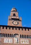 Sforza 's castle in Milan Royalty Free Stock Photography