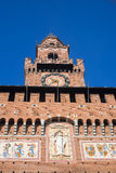 Sforza 's castle in Milan Royalty Free Stock Photo