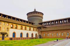 Sforza ` s kasztel w Milan Zdjęcia Royalty Free