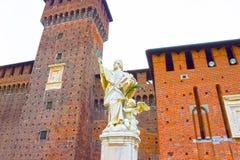 Sforza ` s kasztel w Milan Fotografia Royalty Free