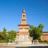 Sforza-Schloss in der Stadt von Mailand lizenzfreie stockfotografie