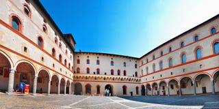 Sforza-Schloss-Hof Stockfotos