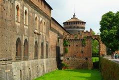 Sforza-Schloss in Mailand Stockbilder