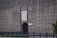 Sforza-Schloss in Mailand, Details Lizenzfreies Stockbild