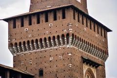 Sforza-Schloss in Mailand, Details Lizenzfreie Stockfotos