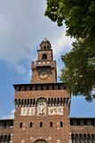 Sforza Schloss in Mailand, Italien stockbilder