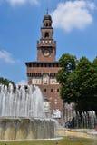 Sforza Schloss in Mailand, Italien lizenzfreie stockfotografie