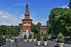 Sforza Schloss in Mailand, Italien Lizenzfreies Stockfoto